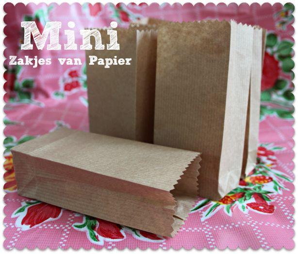 Papieren zakjes zelf maken