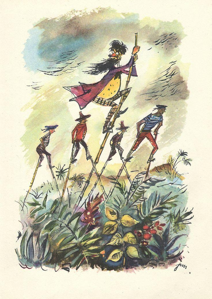 """""""Podróże Pana Kleksa"""" by J. Brzechwa Illustration by J. M. Szancer"""