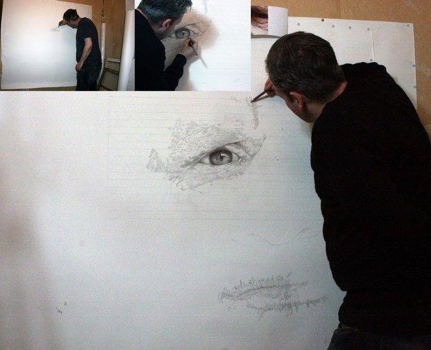 Paul Cadden – Рисунок карандашом на бумаге2