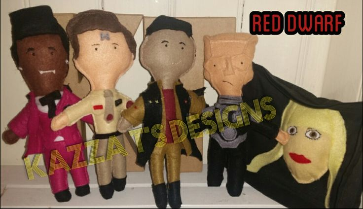 Red Dwarf handmade felt plush dolls  #kazzatsdesigns #feltplushdolls #beingcreative #favecharacters #reddwarf