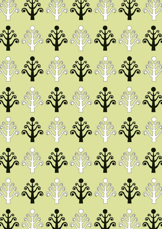 Festive Green Christmas Tree Pattern - FREE. Download psd file at http://selz.co/1xzaDst