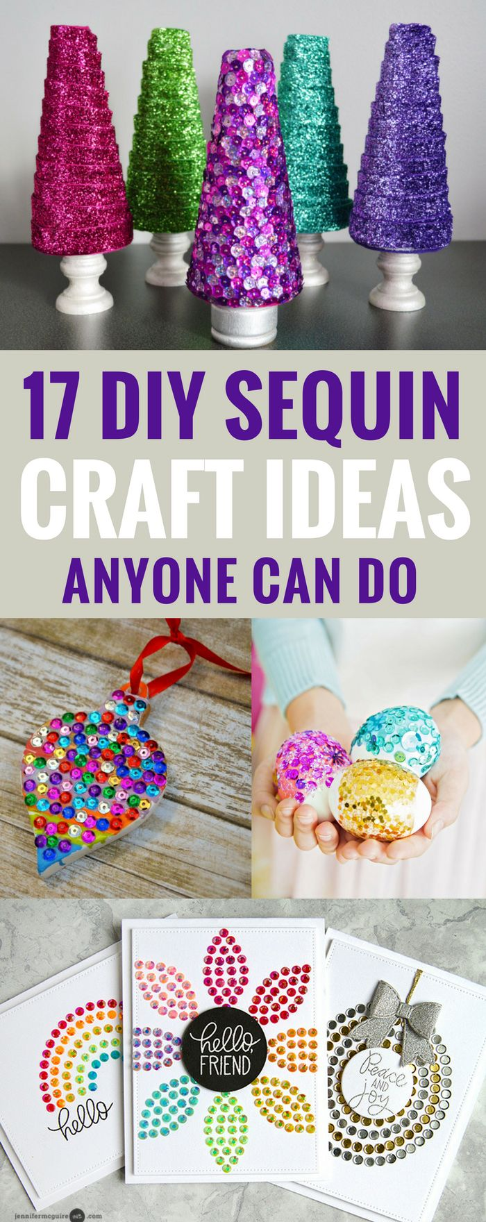 DIY Sequin Crafts Ideas Anyone Can Do, Sparkly Projects for Fashion, Arts, or Home Decor, Kids can Do too!