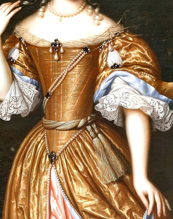 sadnessdollart:  Portrait of a lady, Detail. by Pieter Nason (1671)