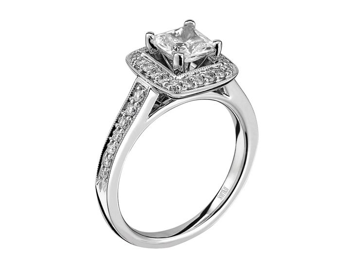 Collection: LuminaireStyle #: M1606R310Description: Ladies 14k White Gold Luminaire Mounting with .33ctwDia Weight: 0.33ctAvailable Metal: 14kt, 18kt, Platinum, PalladiumRing Size: Pricing based on stock size 4-9Setting: Halo