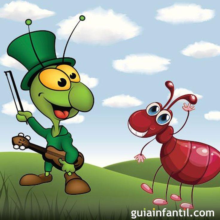 La cigarra era feliz disfrutando del verano, mientras la hormiga trabajaba sin cesar. Pese a sus advertencias, la cigarra seguía cantando mientras la hormiga guardaba comida para el invierno. Al llegar el frío, la cigarra se dio cuenta de que no tenía nada que comer, por lo que tyuvo que pedir ayuda a la hormiga. Lee la historia de la cigarra y la hormiga. Moraleja: Aprende a dosificar trabajo y diversión Fábulas para niños en imágenes. Cuentos cortos con moraleja