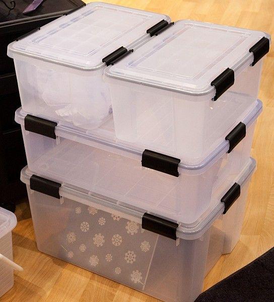 44 Ltr Large Iris Weathertight / Airtight Clear Plastic Storage Box