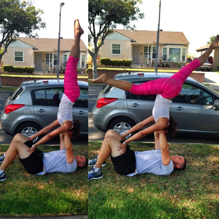 couples yoga handstands. thankyouuuu boyfriend! #couplesyoga #yogacouple #interracial