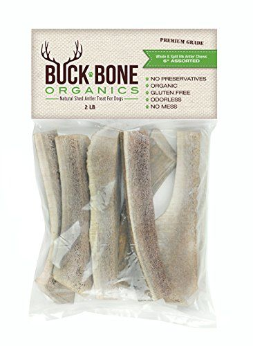 Elk Antler Dog Chews by Buck Bone Organics, By The Pound, From Montana Elk, Made in USA ** Want additional info? Click on the image. #DogTreats
