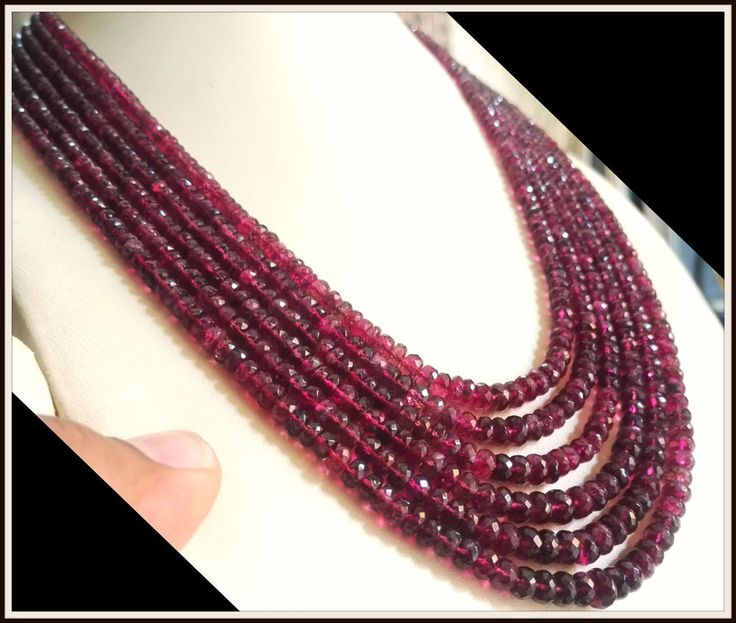 431.78 ct Natural tourmaline faceted Beads Necklace certified , estate vintage   #necklace