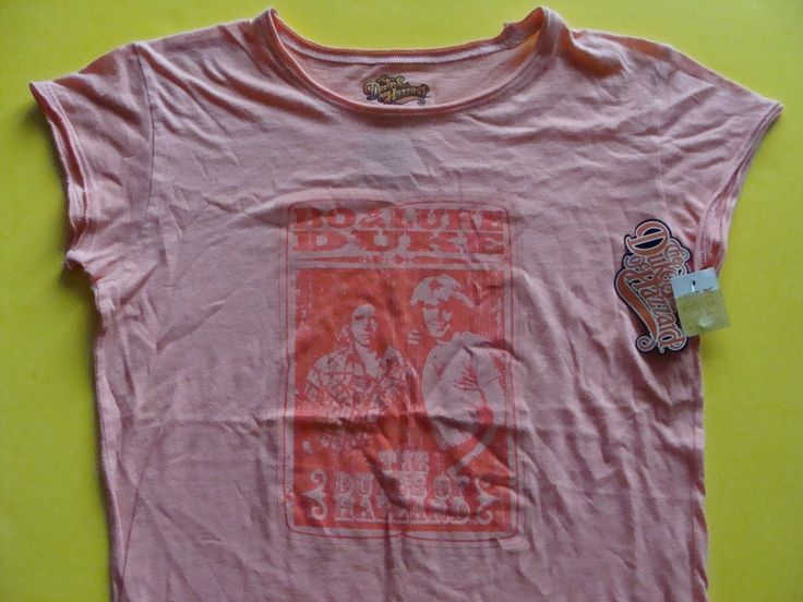 Dukes of Hazzard  Bo & Luke Duke T-Shirt  Girls size M  from 2005 NEW w/TAGS