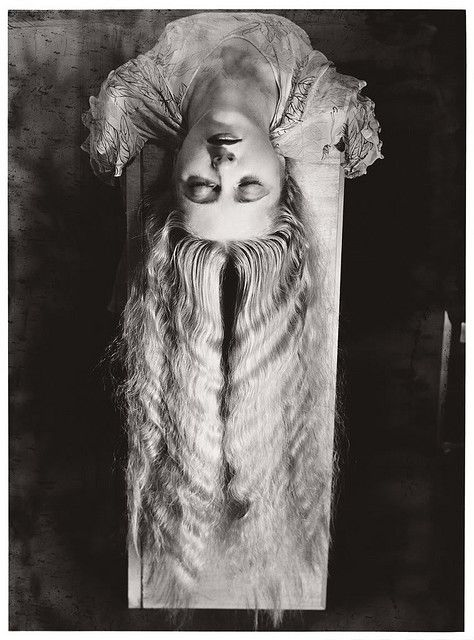 the girl with the long hair by man ray