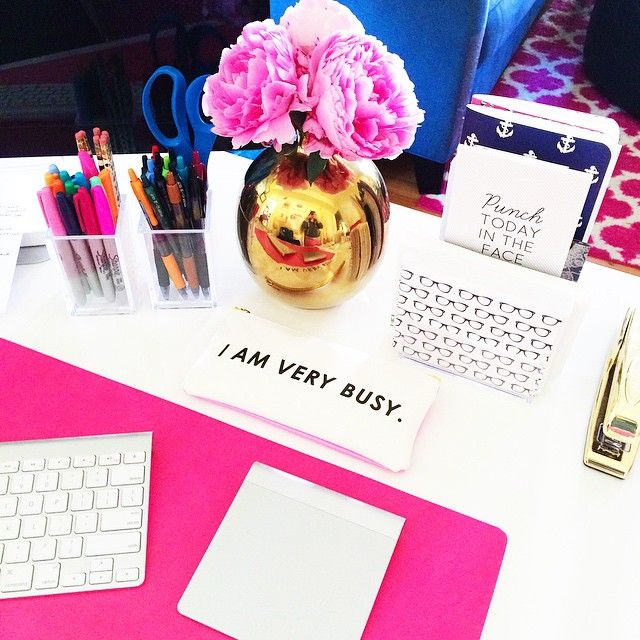 "historyinhighheels: ""Today's goal - punch Monday in the face #deskdujour #peonies """