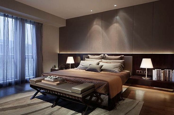 Brown color scheme bedroom design