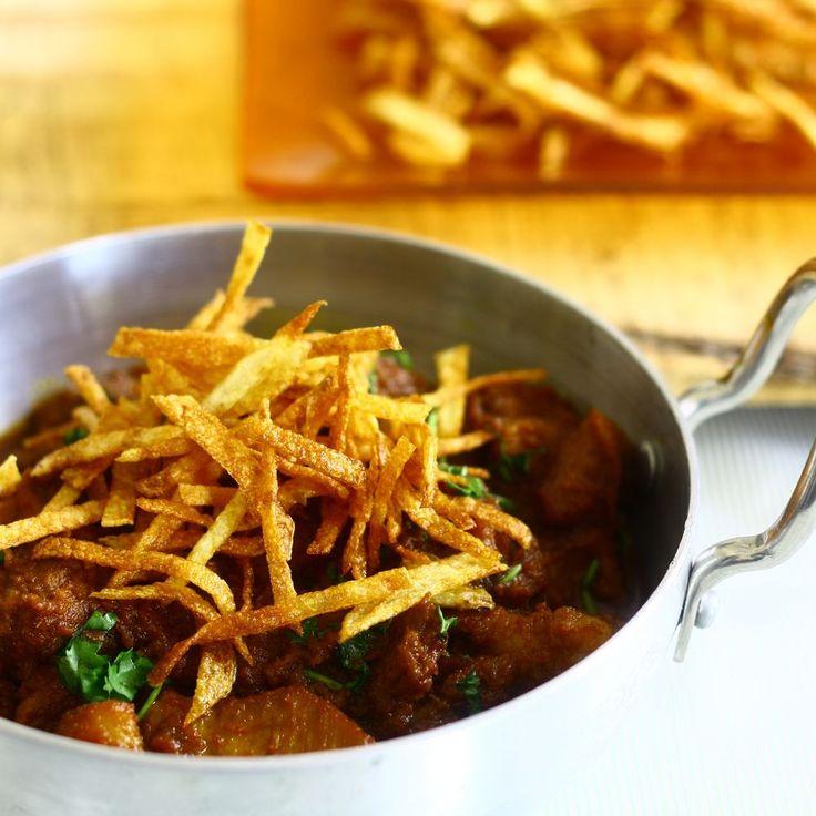 Mutton Gravy with Potato Sticks/ Sali Boti recipe on Food52
