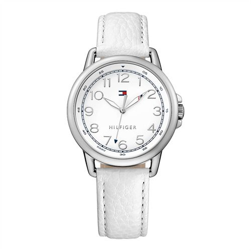 Tommy Hilfiger Damenuhr Lederarmband weiß 1781652 https://www.thejewellershop.com/ #tommyhilfiger #hilfiger #white #steel #leder #watch #uhr #fashion #jewelry #watches #damenuhr #woman #schmuck