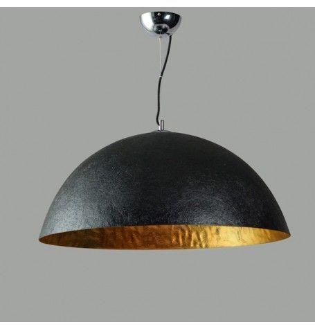 Mezzo Tondo hanglamp zwart-goud 50 cm.