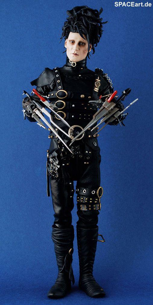 Edward mit den Scherenhänden: Edward » Typ: Deluxe-Figur (voll beweglich) » Hersteller: Hot Toys » https://spaceart.de/produkte/ems002.php