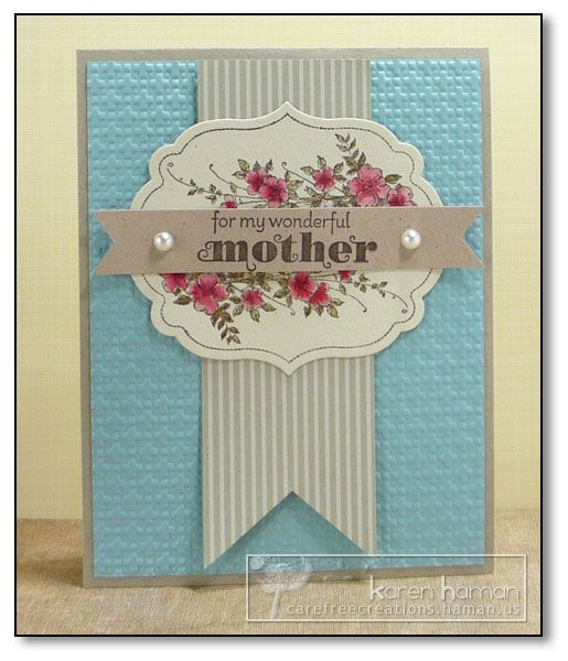 Mother's Day card with Apothecary Art stamp set from Stampin' Up!