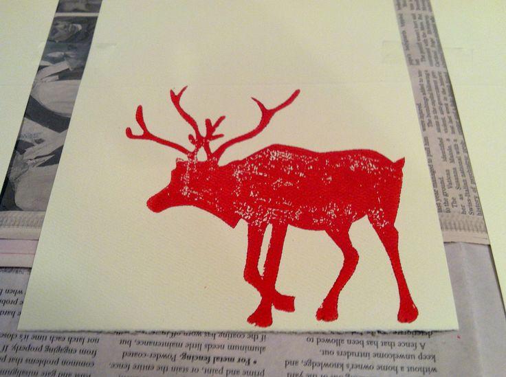 Image result for christmas lino print