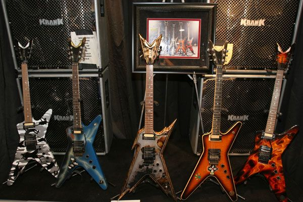 This was Dimebag's stage rig, complete with his Krank Amps and  Stacks as well as those famous Dean guitars...rock on forever Dime