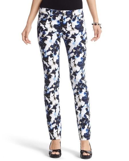 Floral print jeans White House/black market