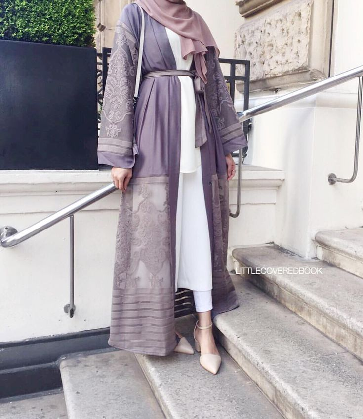 Lilac laced abaya - check out: Esma <3