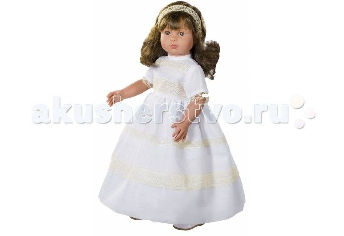 ASI Кукла Нелли 40 см 1250207  ASI Кукла Нелли 40 см 1250207   Эта милая невеста так очаровательна и грациозна в белоснежном платье! Чудесная кукла  из винила станет любимицей вашего ребенка, она устойчиво стоит на ровных ногах.  Длинные каштановые волосы, распущены и слегка завиты. Аккуратный бант из органзы украшает миниатюрную головку.  Все куклы ASI создаются с использованием ручного труда. В каждую куколку мастер вкладывает свою душу! Ваш ребенок сразу почувствует тепло и доброту…