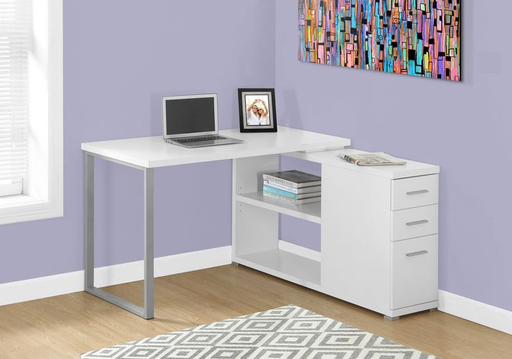 25 best ideas about white corner desk on pinterest pink study desks small corner desk and. Black Bedroom Furniture Sets. Home Design Ideas