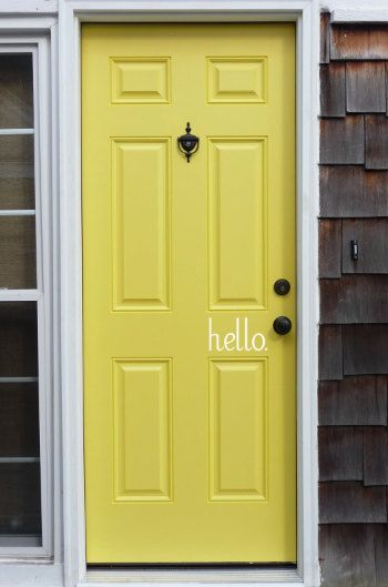 """hello"" welcome front door vinyl"