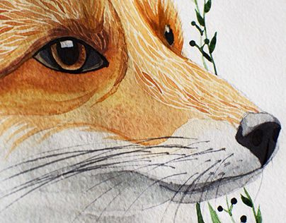 """Check out new work on my @Behance portfolio: """"Fox"""" http://be.net/gallery/31633533/Fox"""