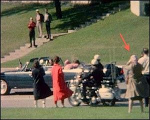 The Babushka Lady- An unknown woman with a camera at the time of the Kennedy assasination.
