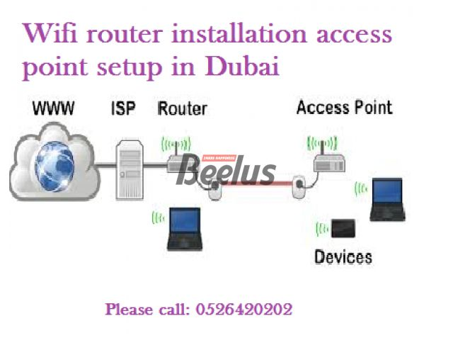 We offer Wifi Wireless router Installation IT support technician in Dubai. We install and repair all kind of routers and access points like TPLINK,DLINK,ENGENIUS,ASUS,NETGEAR,LINKSYS,SITECOM,HUAWEI,BELKIN,MIKROTIK,AZTECH,CISCO,EDIMAX,APPLE,ZYXEL,MESH ROUTER,TENDA,LINKSYS VELOP,BUFFALO,SONOS,SAMSUNG,ALFA,NETIS,UNIFI,MODECOM,YEASTAR,DRAYTEK,J-LINK,UBIQUITY,MICROSOFT AND MORE. We setup wireless range extender for dead zone area in your home villa house office in Dubai so with network cabling…