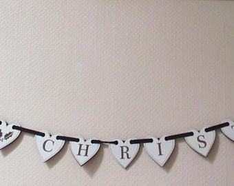 HAPPY CHRISTMAS HEARTS bunting Hand made -    Edit Listing  - Etsy