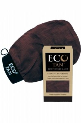 Eco Tan Extreme Exfoliant.  Eco Tan Extreme Exfoliant is brilliant for pre and post tanning. It removes dead skin layers and old tan to reveal fresh smooth skin.   Can be used as a dry buff or with water. Some people swear by it for unclogging pores on their faces. It has many uses including helping with removal of Cellulite, Blackheads, Milia and much more.