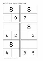 Part-part-whole missing number cards to 20 (gr 2 + lln)
