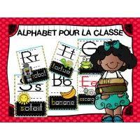 Affiches de l'alphabet pour la classe <3