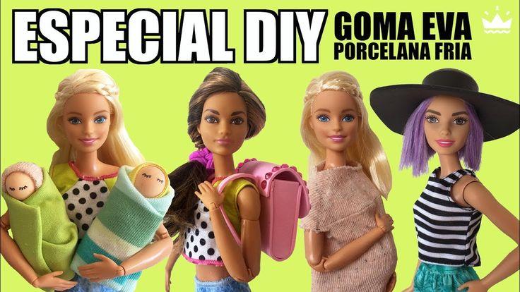 DIY Cómo hacer SOMBRERO, MOCHILA, BEBÉ Y BARRIGA EMBARAZO ¡Barbie! con G...