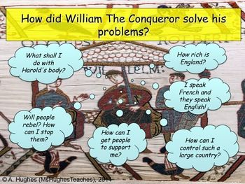 How did William conquer England after 1066. Students look at the Norman's problems and how they solved them. Focus on the Harrying of the North.