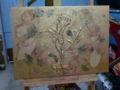 Création tableau peint en acrylique