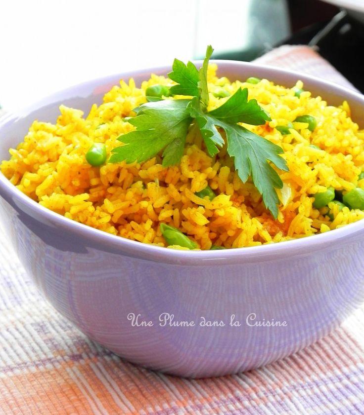 Riz couleur soleil... Le riz blanc ok c'est bon, c'est neutre, mais pourquoi ne pas varier de temps en temps et changer de saveur et de couleur? Voici pour