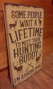deer hunting buddy rustic wood sign primitive cabin camp decor wooden nursery. Interior Design Ideas. Home Design Ideas