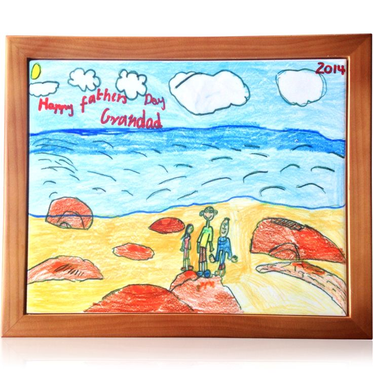 Kids art printed on framed tiles www.personalisethis.com.au