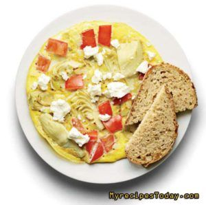 TOMATO, ARTICHOKE, AND FETA FRITTATA - Healthy Breakfast Recipes