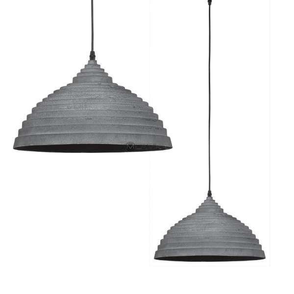 LAMPA wisząca CONCRETE 5070 Nowodvorski metalowa OPRAWA industrialna ZWIS kopuła LOFT beton szara