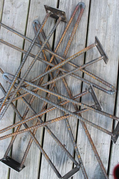 Hundreds and hundreds of rebar hairpin legs by ReclaimedWoodUSA