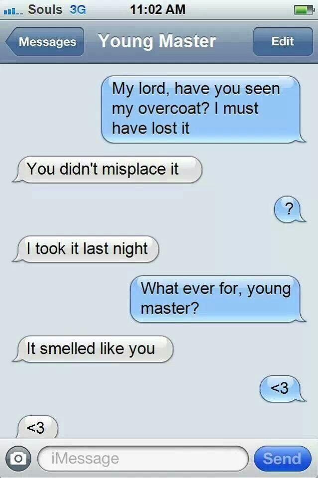 Adorable CielXSebastian Texts :D