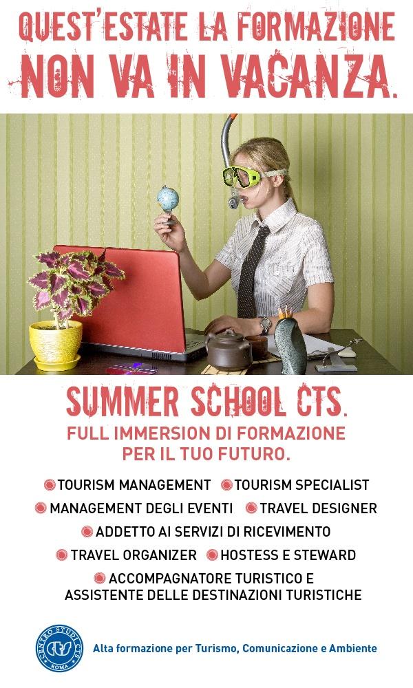 Investi la tua estate nella formazione alle professioni turistiche! Summer School CTS con lo sconto! http://cartagiovani.it/news/2013/05/02/la-formazione-non-va-vacanza-scopri-la-summer-school-cts-con-lo-sconto