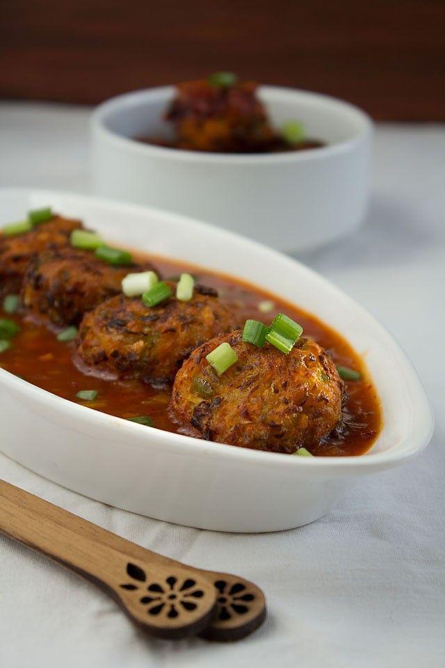 veg balls in hot garlic sauce recipe – indo chinese recipes