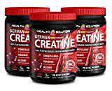 Creatine bulk powder  GERMAN CREATINE CREAPURE MONOHYDRATE 500 GRAM 100 SERVINGS  increase stamina (3 Bottles)