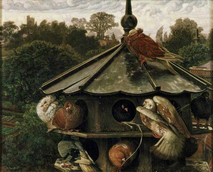 "PEACOCK'S GARDEN: William Holman Hunt ""The Festival of St Swithin"" 1865-66"